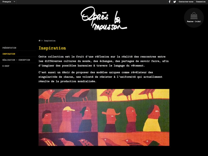 Site apres-la-mousson.com, graphisme, developpement, web