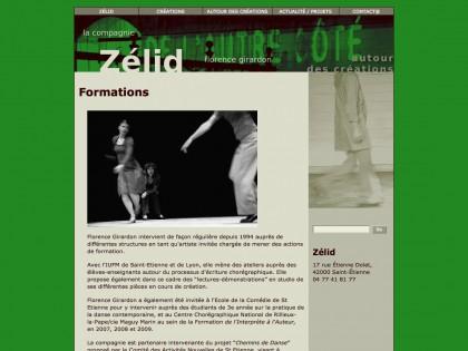 Site web zelid.fr, graphisme, developpement, web