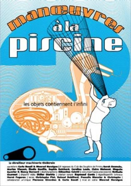 Graphisme et prépresse spectacle Manœuvres à la Piscine, graphisme, print