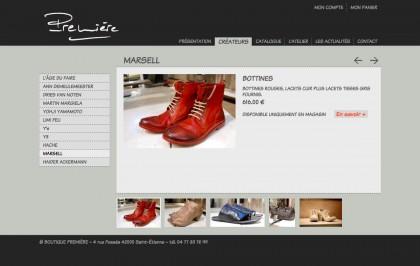 Site boutiquepremiere.com, graphisme, developpement, web