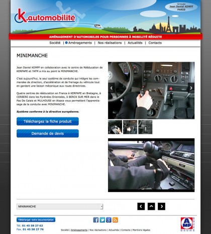 Site web k-automobilite.fr, developpement, web