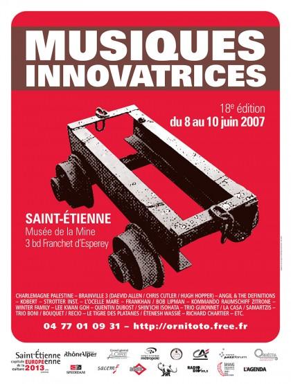 Affiche du Festival Musiques Innovatrices 2007, graphisme, print