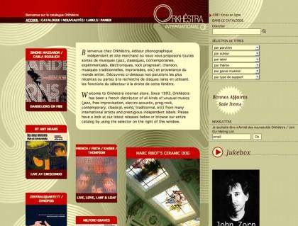 Boutique web orkhestra.fr, graphisme, developpement, web