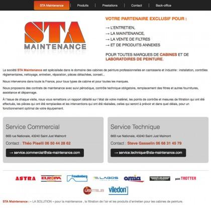 Site web sta-maintenance.com, developpement, web