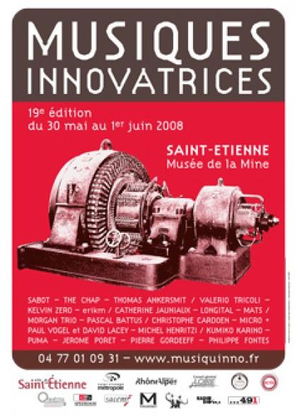 Graphisme et prépresse Festival Musiques Innovatrices 2008, graphisme, print