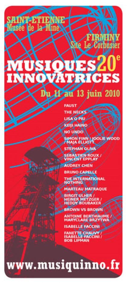 Graphisme et prépresse Festival Musiques Innovatrices 2010, graphisme, print