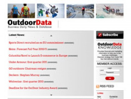Site OutdoorData.com, developpement, web