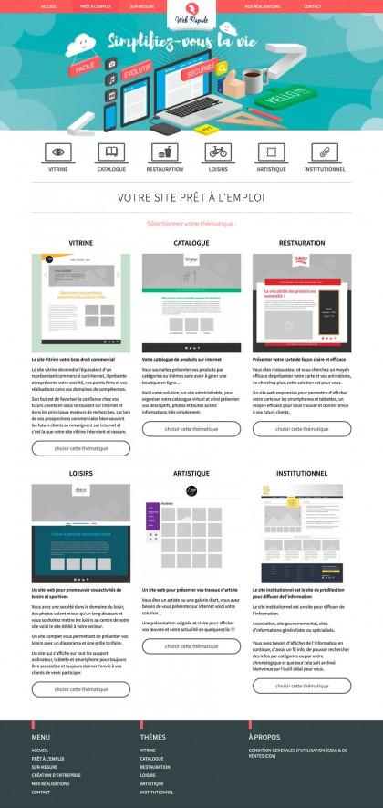 Site Web-rapide.fr, developpement, web
