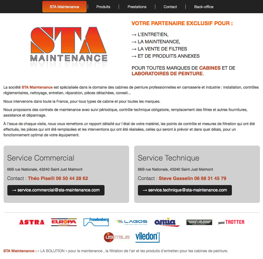 web, développement, Site web sta-maintenance.com, Tchouk-Tchouk prestation web