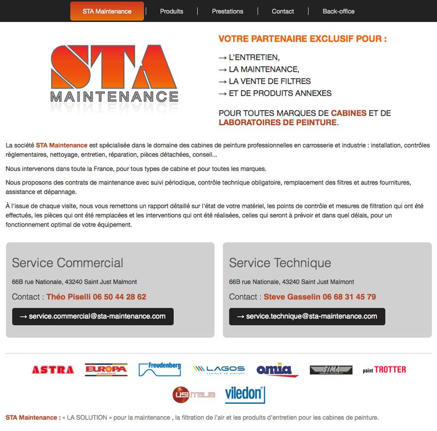 web, développement, Site web sta-maintenance.com, Tchouk-Tchouk prestation web