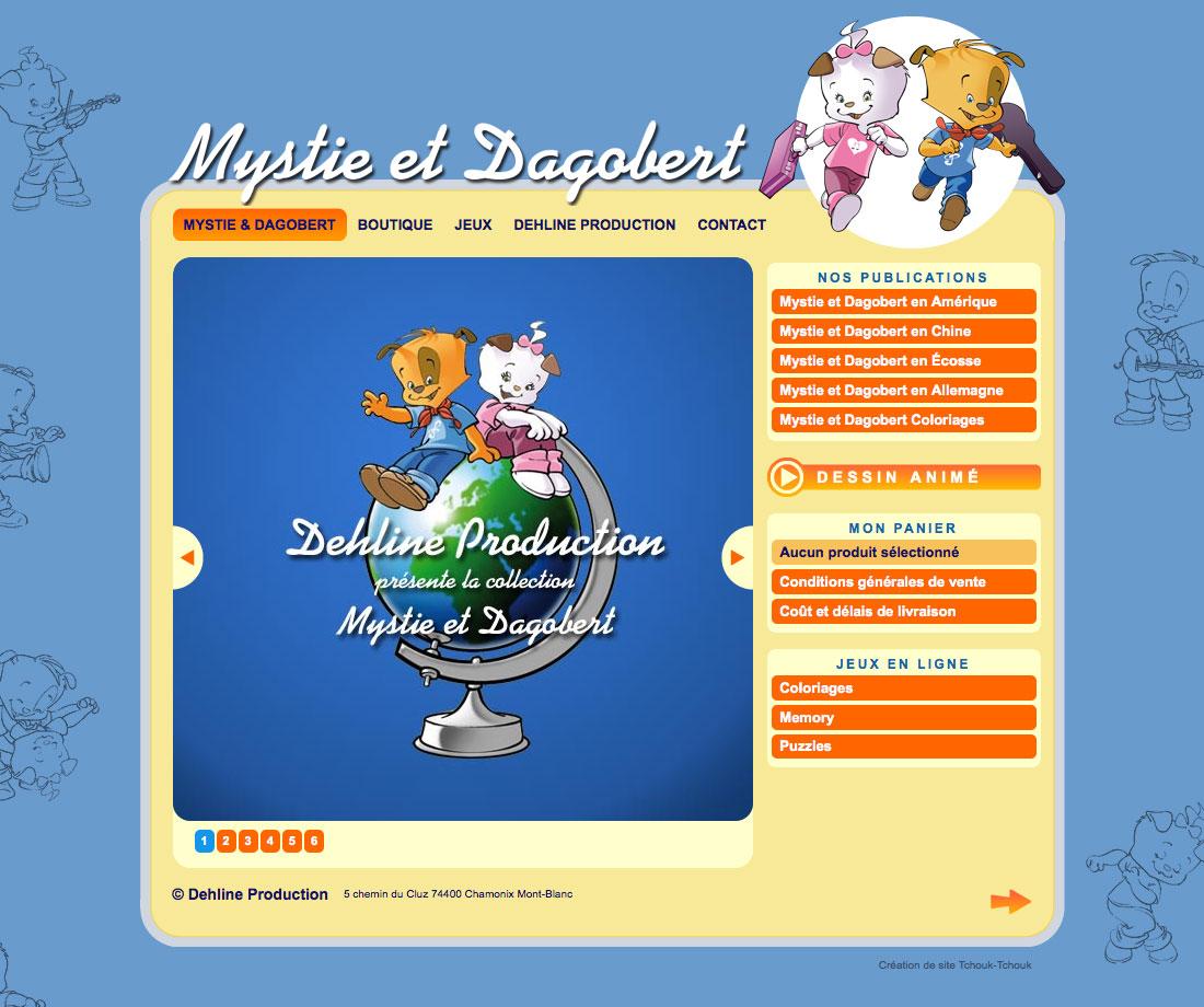 graphisme, développement, web, Site web mystiedagobert.com, Tchouk-Tchouk prestation web