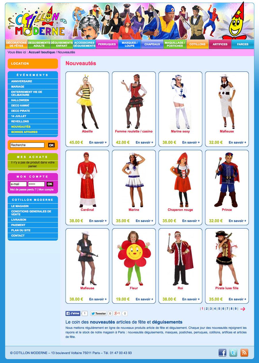 web, développement, Boutique web cotillonmoderne.fr, Tchouk-Tchouk prestation web