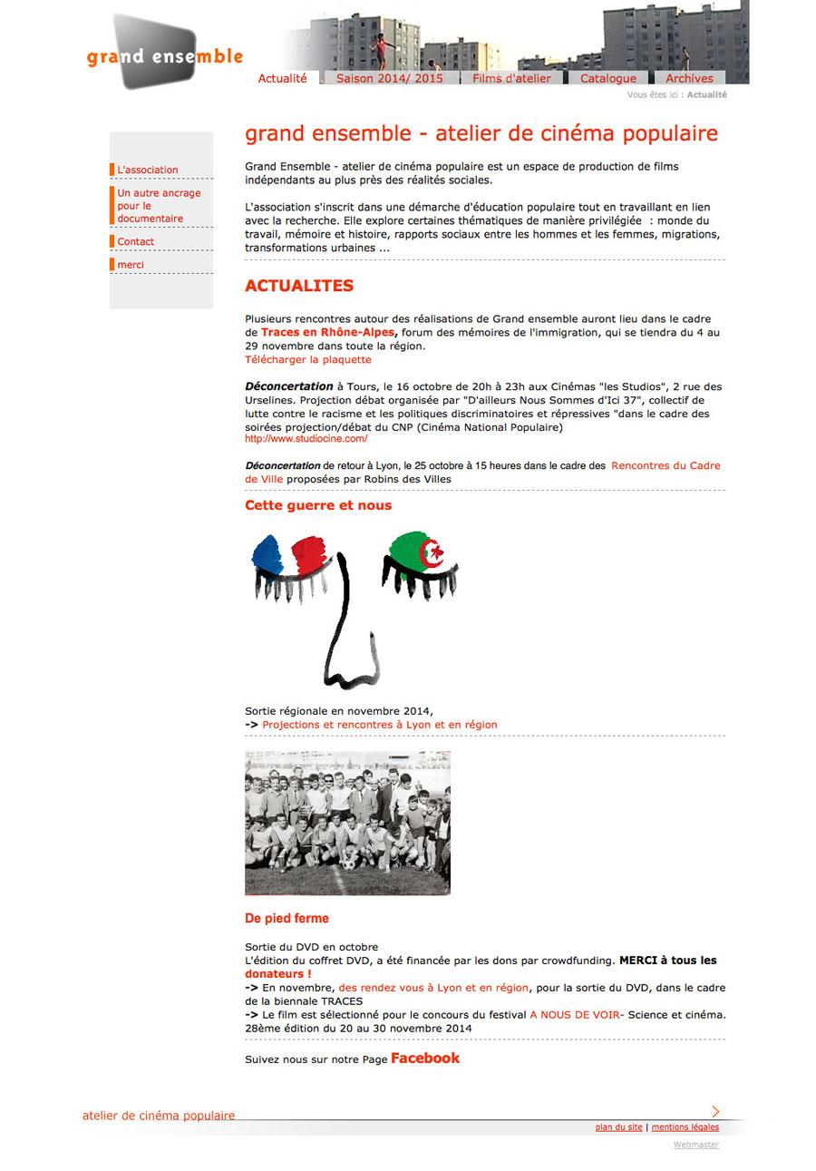 web, graphisme, développement, Site grandensemble.fr, Tchouk-Tchouk prestation web