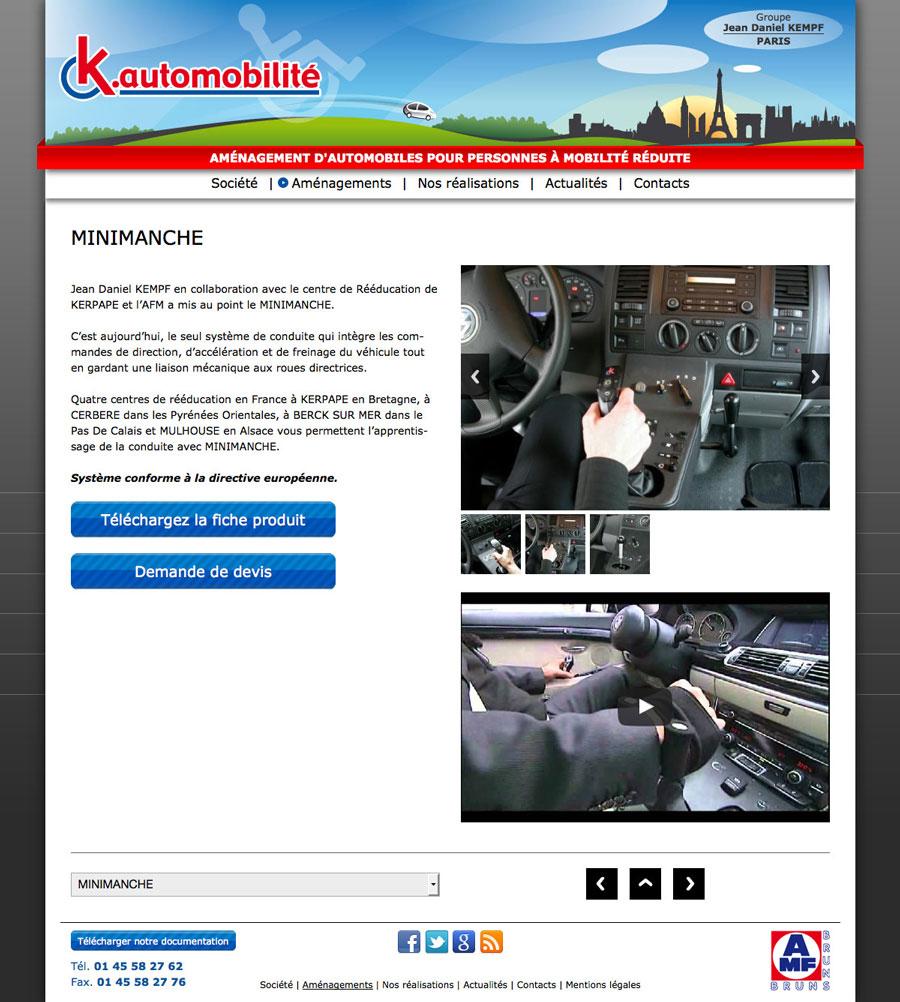 développement, web, Site web k-automobilite.fr, Tchouk-Tchouk prestation web
