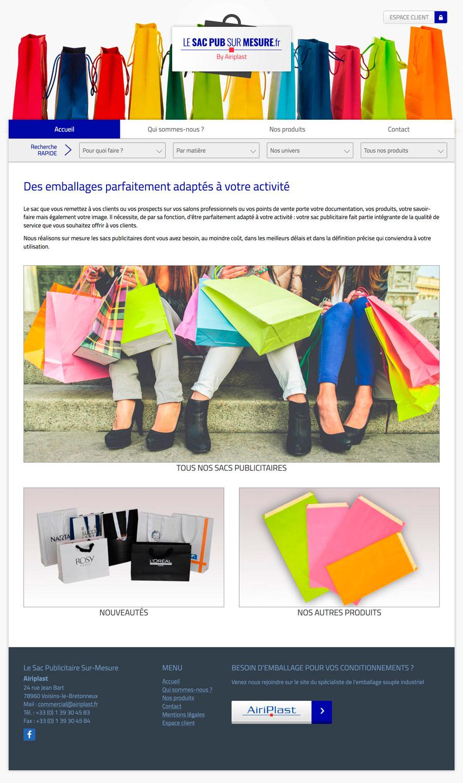 web, développement, Site web Lesacpubsurmesure.fr, Tchouk-Tchouk prestation web