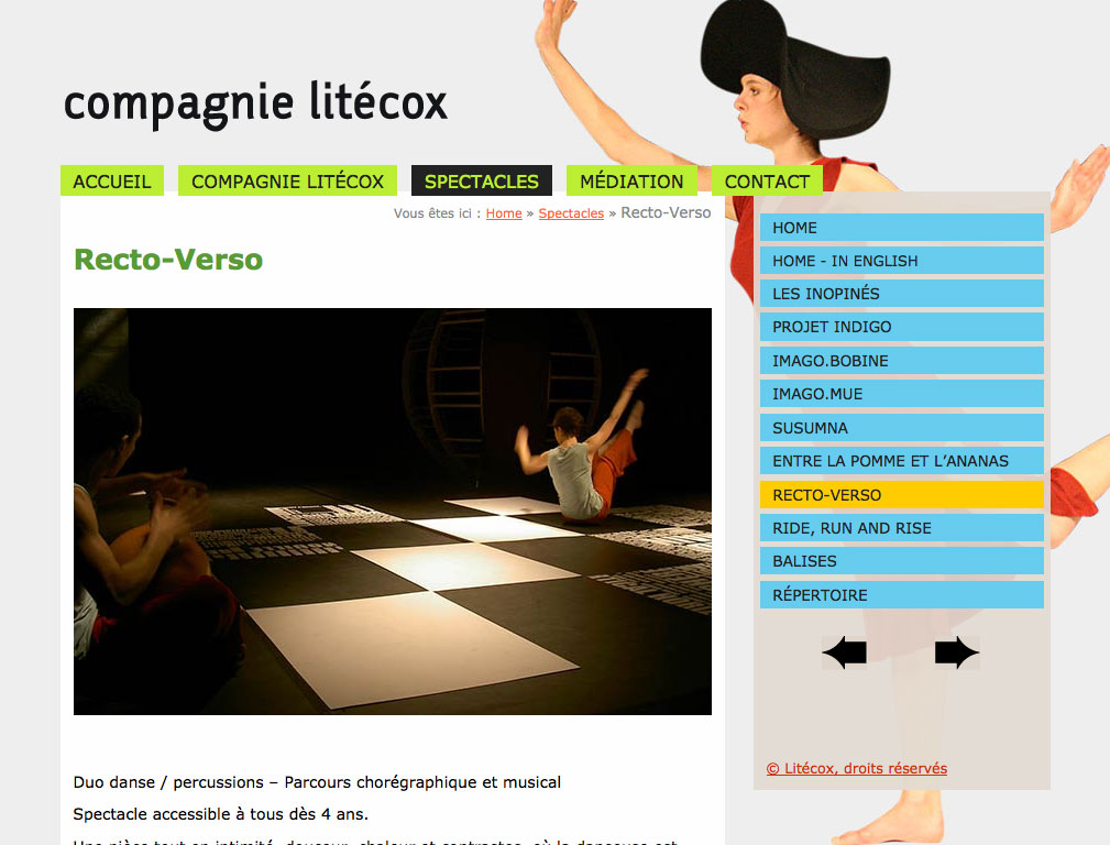 graphisme, développement, web, Site litecox.fr, Tchouk-Tchouk prestation web