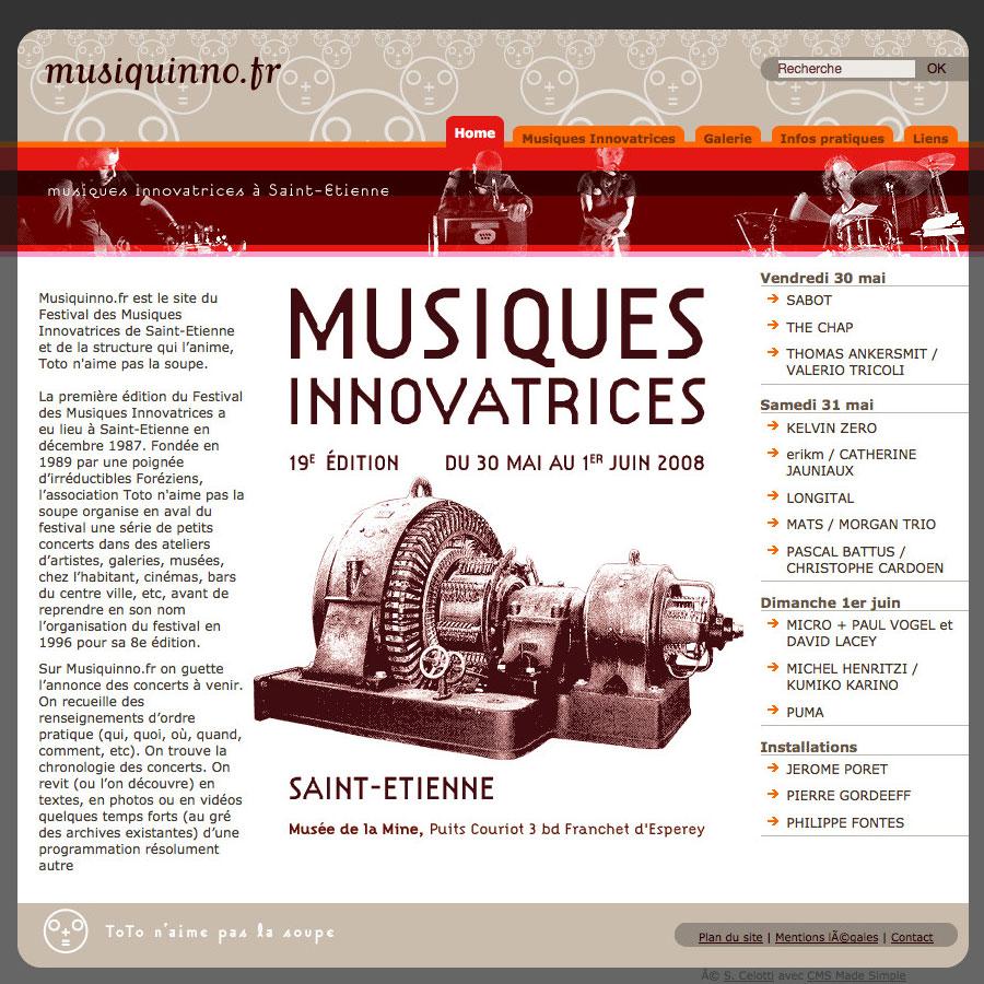 web, graphisme, développement, Site web musiquinno.fr, Tchouk-Tchouk prestation web
