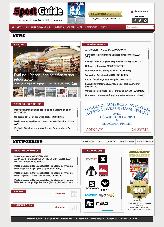 web, développement, Site sport-guide.com, Tchouk-Tchouk prestation web